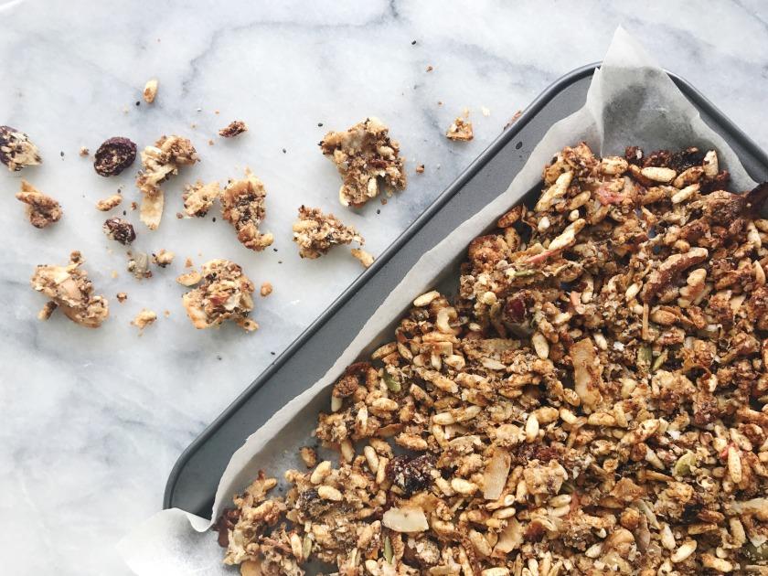 Gluten free vegan granola