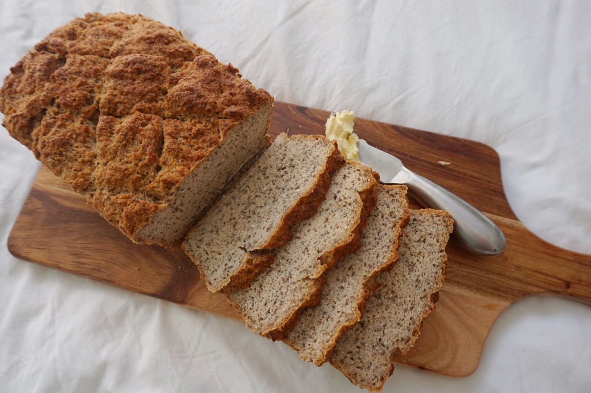 Easy & delicious gluten-free, vegan bread recipe.